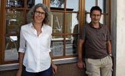 Verena Dörig und Oliver Engler vor dem «Benedikt» an der Bankgasse. (Bild: Marlen Hämmerli)