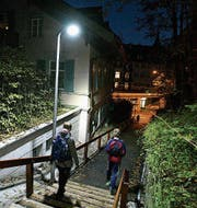 Die Beleuchtung des Dohlengässleins dient als Pilotprojekt für andere Treppen. (Bild: PD)