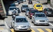 Mit rund 250'000 Fahrzeugen an Werktagen ist der Untere Graben die meistbefahrene Kantonsstrasse des Kantons. (Bild: Hanspeter Schiess)
