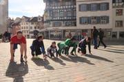 """Auf die Plätze, fertig, los: Der """"Charity Run"""" am 7. April führt von der Gallusstrasse durch die Innenstadt und wieder zurück. (Bild: Matthias Fässler)"""