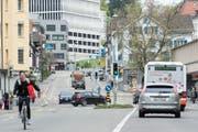 Wie viel Verkehr will man in St.Gallen - und welchen vor allem? Die Diskussionen zu diesem Thema verlaufen kontrovers. (Bild: Hanspeter Schiess)