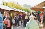 Am Markt mit 140 Ausstellern war viel Betrieb. (Bild: Donato Caspari)