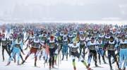 Auch dieses Jahr eine riesen Veranstaltung: Der Engadiner Skimarathon. (Bild: swiss-image.ch)