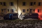 Erinnerung der anderen Art: Im bereits leerstehenden Haus Haldenstrasse 7/9 übten Anfang Jahr Angehörige der Stadtpolizei St.Gallen. (Bild: Michel Canonica - 7. Februar 2018)