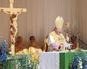 Erzbischof Wolfgang Haas verweigert seit einigen Jahren die Zelebration der Feldmesse am Staatsfeiertag. (Bild: Günther Meier (15. August 2010))