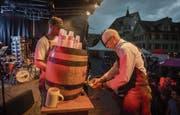 Das Bier kann fliessen am St. Galler Fest (Bild: Benjamin Manser)