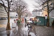 Mehr Freifläche gewünscht: Fest installierte Markthäuschen wird es in Zukunft nicht mehr geben. (Bild: Benjamin Manser)