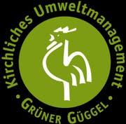 """Das kirchliche Umweltlogo """"Grüner Güggel""""."""