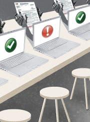 Computersysteme überprüfen einfache Steuererklärungen schon heute komplett selbstständig. (Bild: Illustration: Patric Sandri)