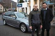 Sie stehen hinter der Taxi-App: Erol Kanik und Raphael Hardegger. (Bild: Sabrina Stübi)