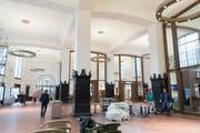 Blick in die neue St.Galler Bahnhofhalle. (Bild: Ralph Ribi)