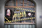 Totalausverkäufe sind in der Ostschweiz kein seltener Anblick. (Bild: Ralph Ribi)