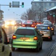 Auf diversen Strassen in der Stadt St.Gallen werden die Grenzwerte für den Strassenlärm überschritten. Hier ein Bild am Unteren Graben. (Bild: Ralph Ribi/Archiv)