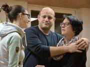 Jessica Beck, Thomas Greuter und Nadine Steiner während einer Probe. (Bild: Monika Wick)