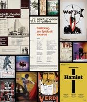 Markante Unterschiede in der Formensprache, aber auch der Qualität: Die St. Galler Theatergrafik im Wandel der Zeit. (Bild: PD)
