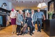 Elisabeth Berger, Claudia Gehrig, Karin Bischoff und Felix Bienz organisieren die Fashion Days. (Bild: Urs Bucher)