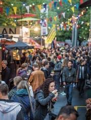 Vor zwei Jahren feierte das erste Streetfood-Festival der Stadt Premiere. (Bild: Michel Canonica (3. Juni 2016))