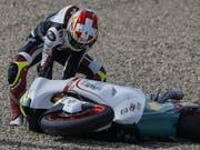 Dominique Aegerter hat sich bei einem Sturz verletzt (Bild: KEYSTONE/EPA EFE/JOSE MANUEL VIDAL)