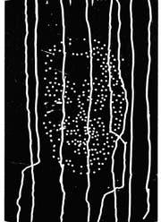 Kaspar Toggenburgers «Selbst», eines von 44 Selbstporträts von aktiven Holzschnitt-Künstlern. (Bild: Xylon)