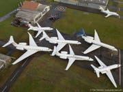 Zwischen dem 21. und dem 27. Januar landeten und starteten 377 Flugzeuge auf dem Flugplatz Altenrhein. Damit liegt der Wert gleich hoch wie im Rekordjahr 2015. (Bild: PD)