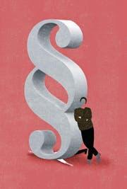 M. B. nutzt die Provokation als Masche, um andere juristisch belangen zu können.Illustration: Patric Sandri
