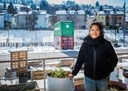Die Chefin der Halle und des «Supercontainers»: Nathalie Bösch macht neu beim Verein Lattich mit. (Bild: Urs Bucher)