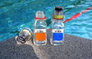 In solchen Flaschen werden Urinproben für Dopingtests verschlossen. (Bild: PD/Berlinger Special AG)