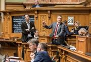 Nationalrat Roland Rino Büchel (am Rednerpult) ist gegen eine Pauschale. (Bild: MONIKA FLUECKIGER (EQ IMAGES))