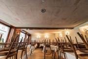 Im Restaurant Facincani fiel den Gästen am 3. Februar die Decke auf den Kopf. (Bild: Hanspeter Schiess)