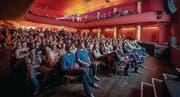 23.11.2014, Palace St. Gallen: Grosse Leinwand für die Filme des vierten Ostschweizer Kurzfilmwettbewerbs. (Bild: pd/Marcello Engi)