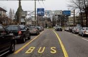 Insgesamt 17 Millionen fliessen aus dem Aggloprogramm in weitere Eigentrassierungen für die Busse. (Bild: Urs Jaudas (24. Dezember 2008))