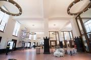 Die St.Galler Bahnhofshalle kurz vor ihrer Eröffnung am 17. November. (Bild: Ralph Ribi)