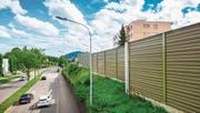 Gegen Lärmschutzwände, wie hier in St. Gallen, wird häufig Einsprache erhoben. (Bild: Urs Bucher)