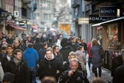 Trotz leichter Abwanderung: Die Stadt St. Gallen bleibt das Zentrum der Ostschweiz. (Bild: Michel Canonica)