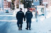 Private Sicherheitsdienste übernehmen immer mehr Aufgaben – auch im Auftrag des Staates. (Bild: Christian Beutler/Keystone (Davos, 15. Januar 2018))