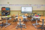 Das Schulhaus St. Leonhard ist nach einer zweijährigen Sanierungsphase wieder in Betrieb. (Bild: Urs Bucher)