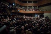 Vor der Festpremiere des «Fidelio» am Donnerstagabend im Theater St.Gallen: Premierenpublikum im Grossen Haus. (Bild: Benjamin Manser)