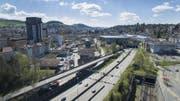 Ein Deckel über der Autobahn soll der Olma neues Bauland verschaffen. (Bild: Ralph Ribi)