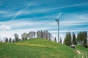 Windrad auf dem Weg von Trogen zum Gäbris: Grossprojekte haben es im Toggenburg immer wieder schwer. (Bild: Urs Bucher/Archiv)