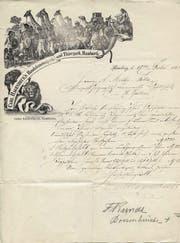 Das Archiv der Ostschweizerischen Geografischen Gesellschaft ist eine Fundgrube. Abgebildetes Beispiel: ein Brief des Tierhändlers und Show-Unternehmers Carl Hagenbeck vom 17. Dezember 1880. (Bild: PD)