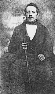 Xaver Suter (1824-1907) um 1848 in Rapperswil, kurz vor seiner Auswanderung.