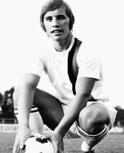 Heinz Rütti 1972 im Dress des FC St. Gallen auf dem Espenmoos. (Bild: Franz Krüsi)