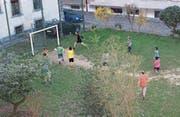 Das Wiesli im Museumsquartier wird unter anderem als Fussballplatz genutzt. (Bild: Claudio Baeggli/PD)