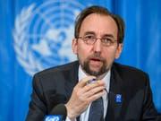 Uno-Menschenrechtskommissar Seid Raad al-Hussein hat Israel für eine überzogene Gewalt im Gazastreifen kritisiert. Es müssten diejenigen zur Verantwortung gezogen werden, welche für die Todesfälle verantwortlich seien. (Bild: KEYSTONE/MARTIAL TREZZINI)