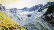Der Cantun-Gletscher (Öl auf Leinwand), gemalt von der St. Galler Künstlerin Margot Schneider. (Bild: Katalog)