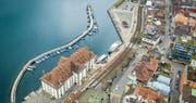 Prominenter Platz: Kornhaus und Hafenareal sollen laut Stadtregierung zum «gesellschaftlichen Mittelpunkt der Seestadt Rorschach» werden . (Bild: Urs Bucher (Rorschach, 9. November 2017))