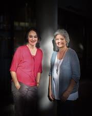 Cristina De Biasio und Ulla Ahmann engagieren sich für jüngere Menschen mit Demenz. (Bild: Benjamin Manser)