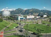 Über 20 000 Kunden gehen am Karfreitag jeweils im Messepark einkaufen. (Bild: Marcel A. Mayer (Dornbirn, 1. Juli 2013))