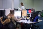 Im Callcenter der MS Direct AG in St.Gallen arbeiten mehrheitlich Frauen mit Teilzeitpensen. (Bild: Benjamin Manser)