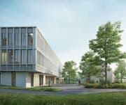 Das Siegerprojekt für das neue Spital Appenzell sieht anstelle des heutigen Personalhauses einen in die Länge gezogenen Neubau vor. (Bild: PD)